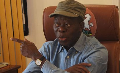 Photo of Saraki and other senators who decamped to the PDP have been punished by Nigerians – Oshiomhole