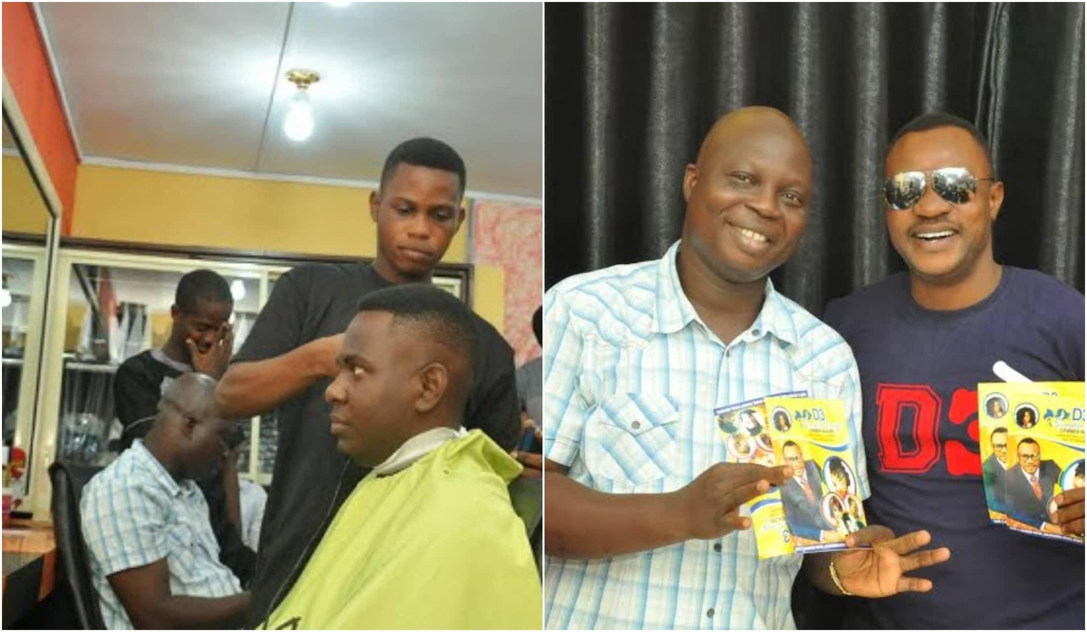 Odunlade Adekola opens Unisex barbing