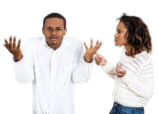 Photo of Man gets himself into big trouble with his wife while discussing bank loans with friends