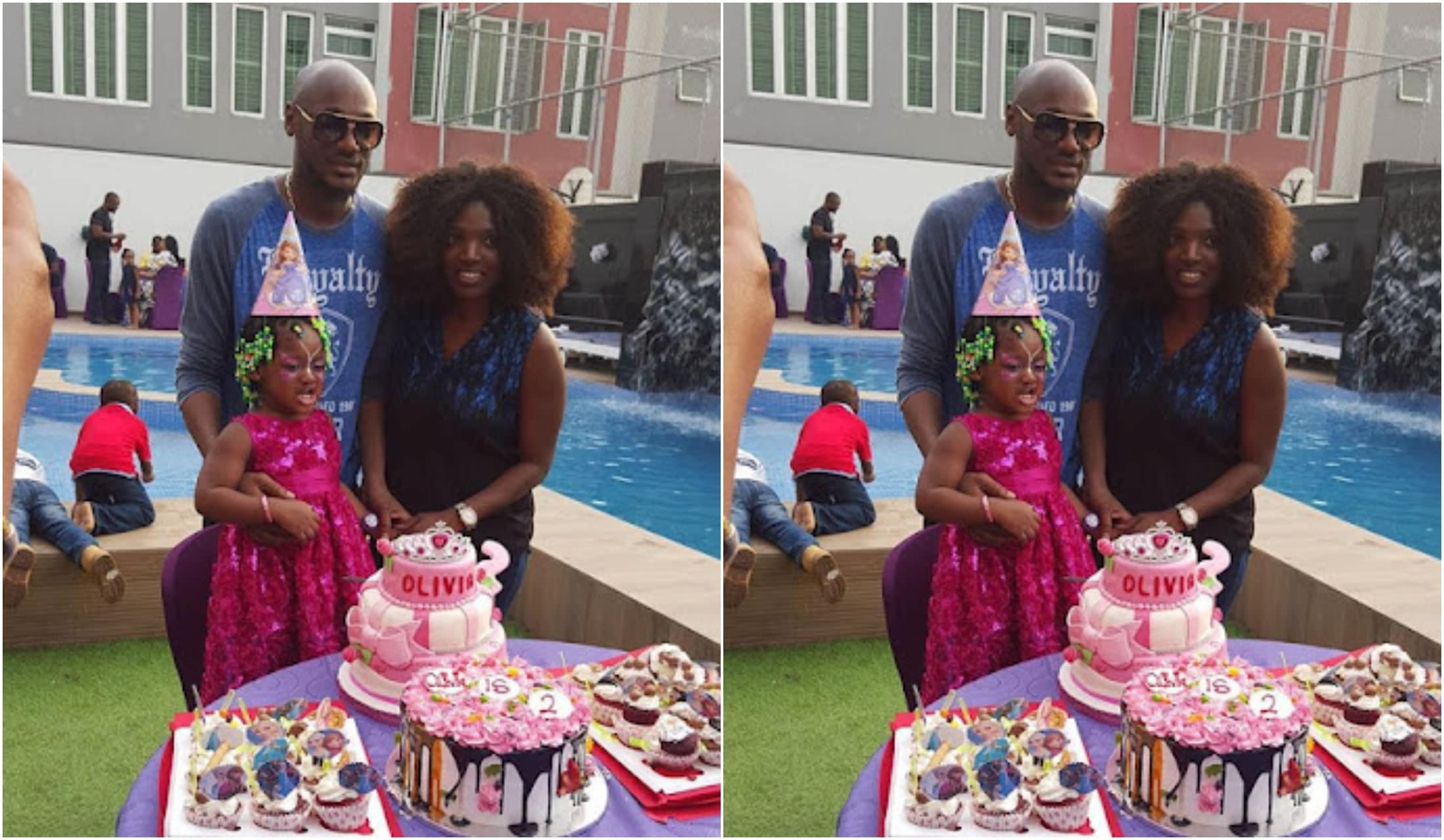 2face & Annie Idibia's second daughter's birthday