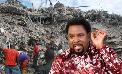 Photo of Prophet T.B Joshua speaks on why he collects tithes