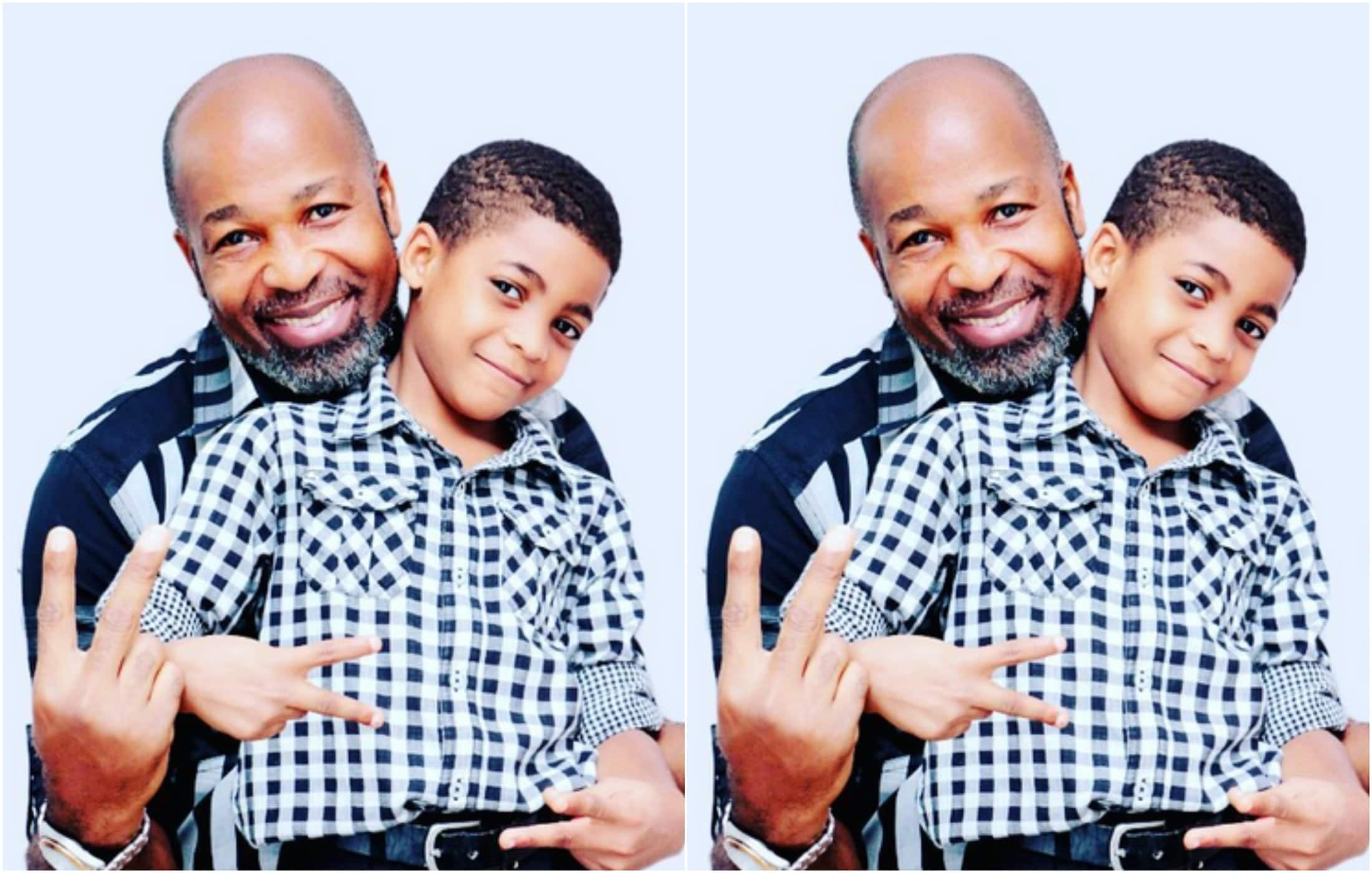 Yemi Solade shows off his fine kids and wifey