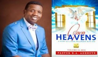 Photo of Thursday daily devotional by Pastor Adeboye (Open Heavens 11 January 2018) – Help From Above