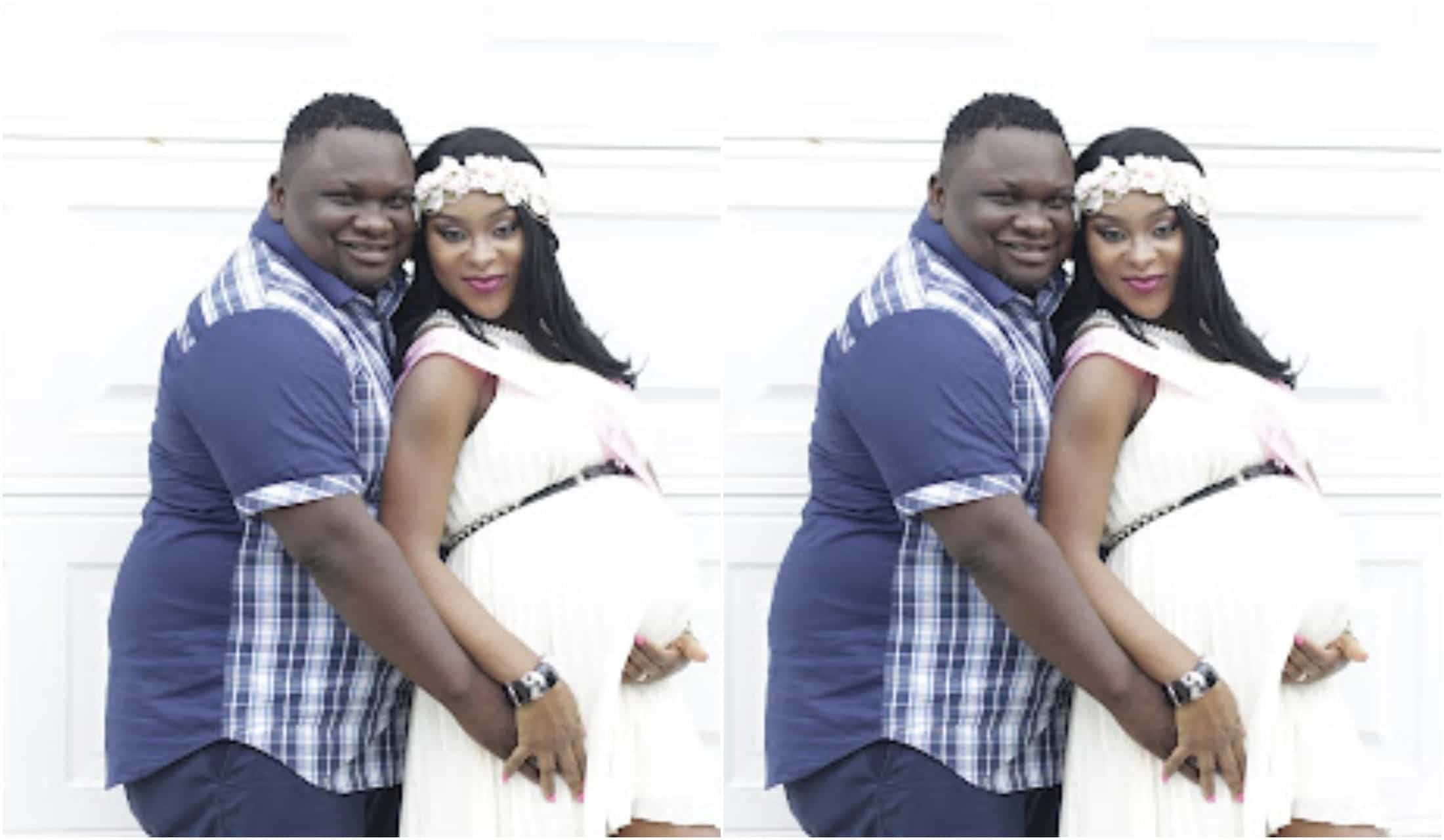 Solomon Lange and wife babay shower