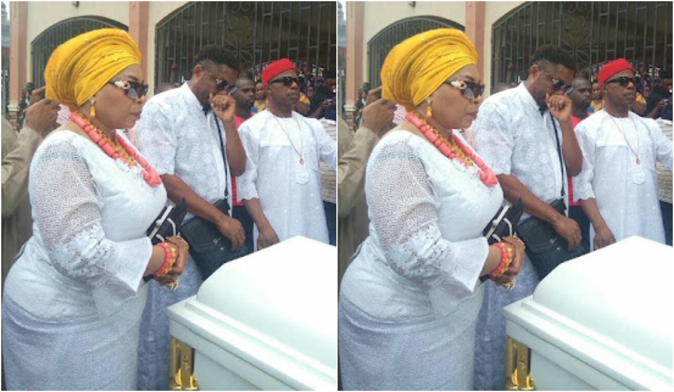 Actor Ernest Obi burying his mum
