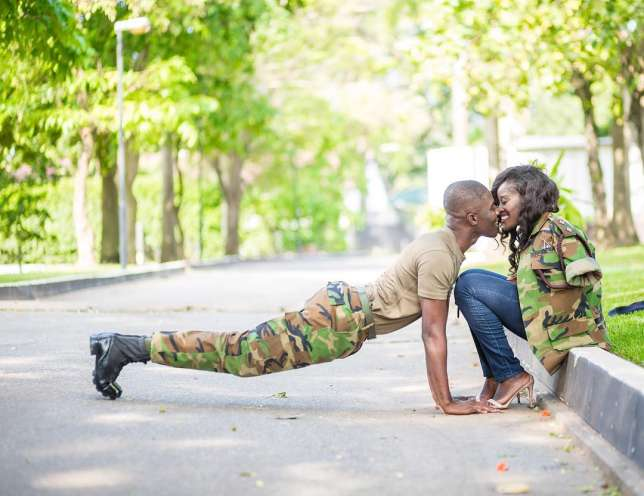 Soldier, Jude & Miranda, his bride are all shades of admirable in these photos