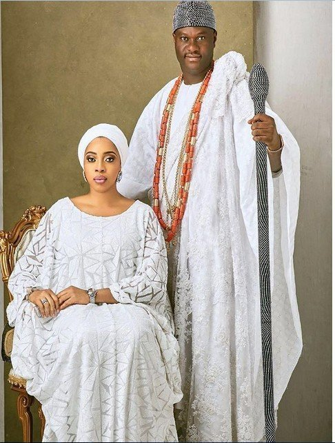 Photo of Ooni of Ife's ex-wife reacts to his marriage to Prophetess