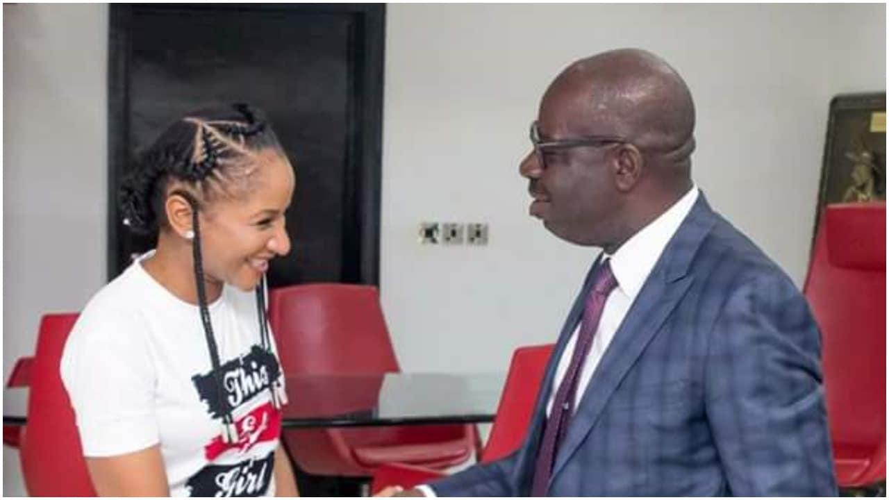 Adesua Etomi visit Godwin Obaseki