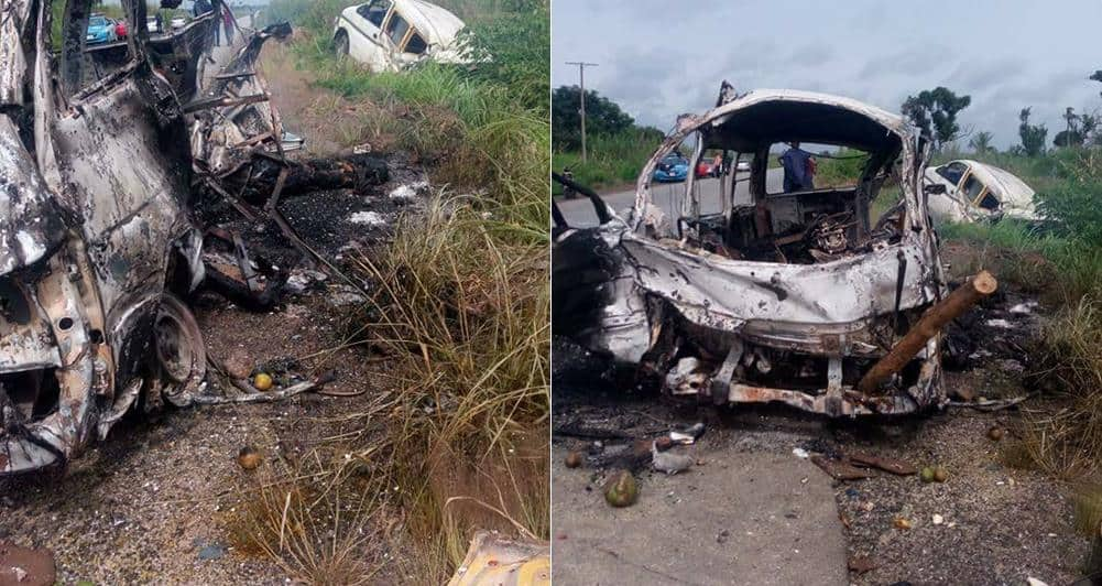 Photo of Five persons burnt to death en-route to a wedding in Rivers state (Photos)