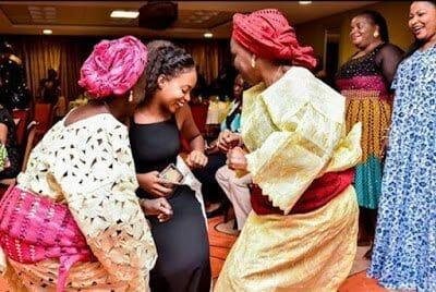 Kiki Osinbajo has a dance-off with two grandmas at a party in Abeokuta