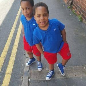 Taiwo Aromokun's first set of twins