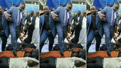 Photo of Pastor Walks On Church Members, Claims He's Too Holy To Walk On The Ground