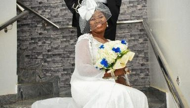 Photo of Emeka Ossai marks 10th year wedding anniversary by walking down the aisle again with his wife (photos)