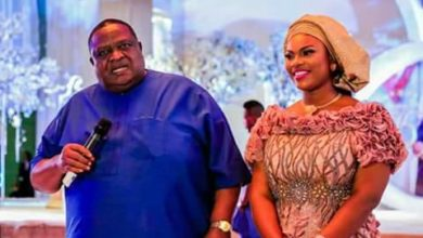 Photo of Billionaire businessman, Emmanuel Iwuanyanwu & his 30-year-old wife host dignitaries at his 75th birthday ceremony (Photos)