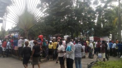 Photo of Long queue as people wait for free food in Lekki (Video)