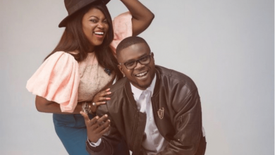 Photo of Funke Akindele prays for her husband, JJC Skillz from the depth of her heart…