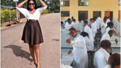Photo of Nigerian lady graduates, 9 years after she was kicked out of medical school