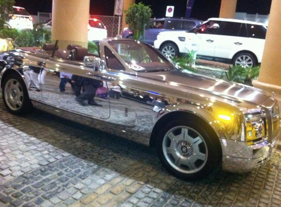 Michelle Chiyangwa shared pictures of her silver Rolls Royce with followers