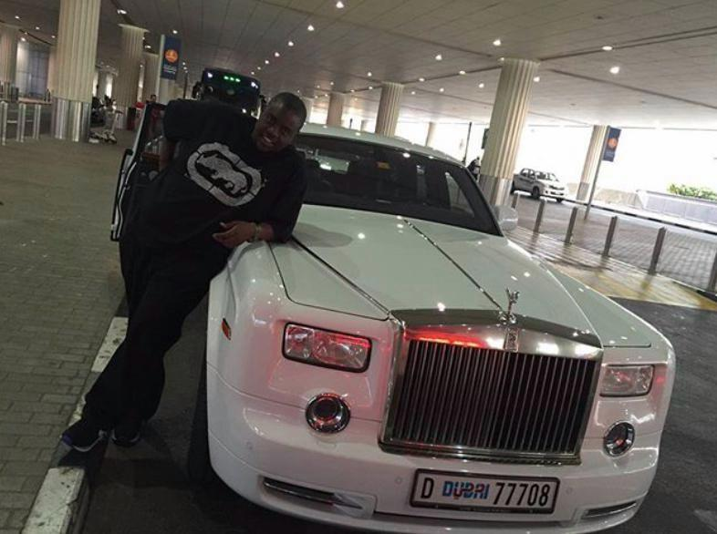 Wicknell is known to buy custom-made cars like this Rolls Royce to fit his ample frame
