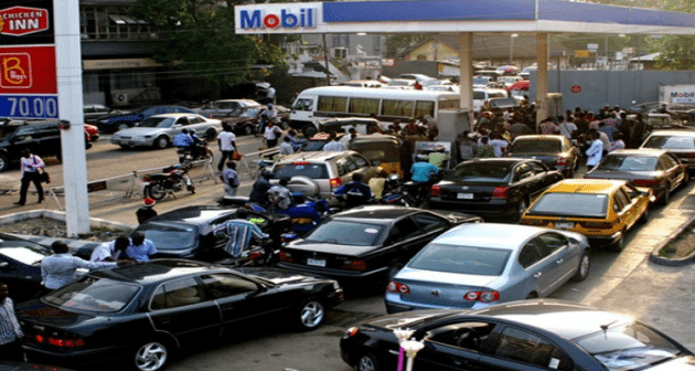 Image result for fuel queues in lagos