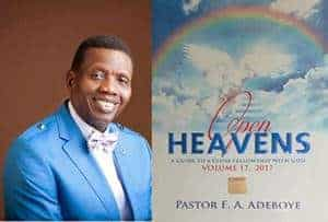 Open Heavens 11 December 2017: Monday daily devotional by Pastor Adeboye – A Sacrifice God Loves