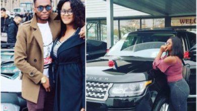 Photo of Wife of Nigerian Footballer, Uche Kalu, gets new Range Rover car (Photos)