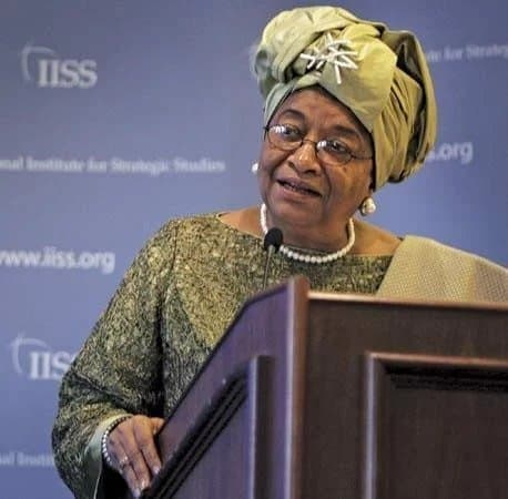 Photo of Outgoing Liberia's president, Ellen Johnson Sirleaf, expelled from her party
