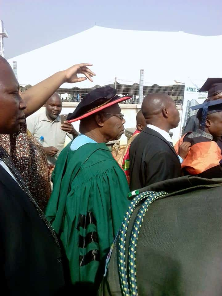 Photo of Obasanjo celebrates with friends in Abuja as he graduates from NOUN (Photos)