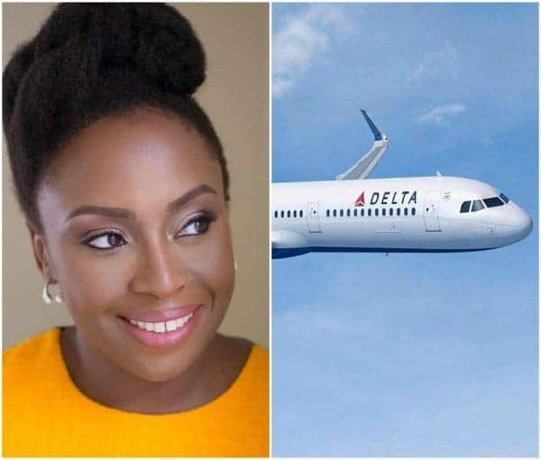 Photo of Chimamanda Adichie, calls out Delta Airlines for crude and contemptuous policies