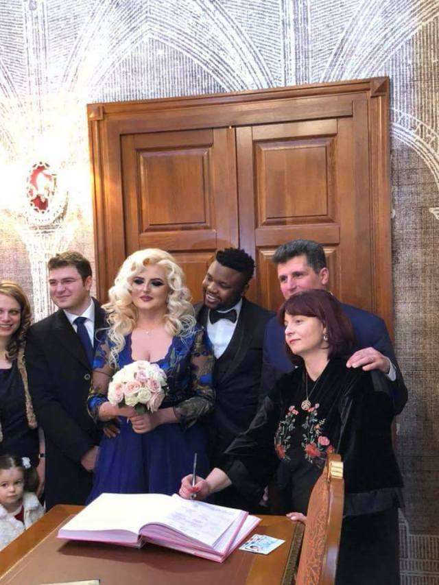 Photo of Europe based Nigerian club owner shuts down Romania with inter-racial wedding (photos)