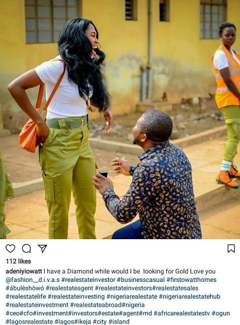 Corps member girlfriend two months