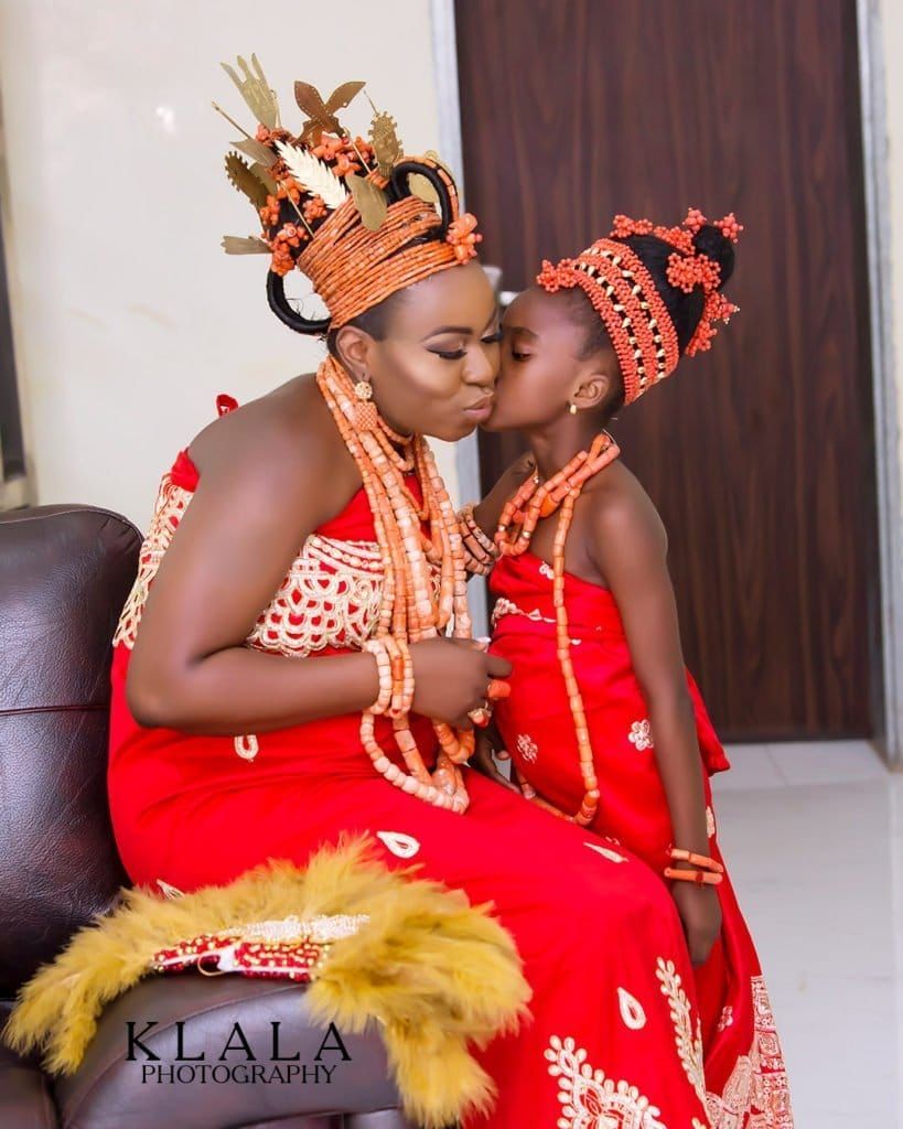 Photo of A True love story! Aisosa and Osarenren's rich Benin traditional wedding photos