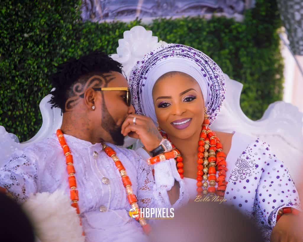 Photo of Oritse Femi and wife celebrate second wedding anniversary