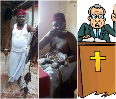 """Photo of Native Doctor Exposes """"Pastor"""" Begging Him Online To Make Him Rich (Photos)"""