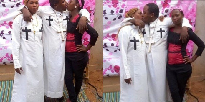 Photo of Photos:  Prophet arrested for kissing wife and house girl