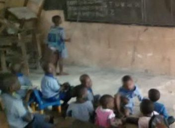 Photo of See distressing photos of pupils taking lessons on bare floor in a community