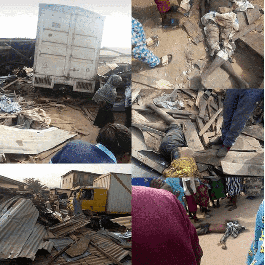 Photo of Sad! Woman & grandchildren crushed to death in Ondo market accident