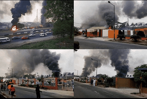 Photo of 10 feared dead as fire guts Second Coming gas plant in Magodo