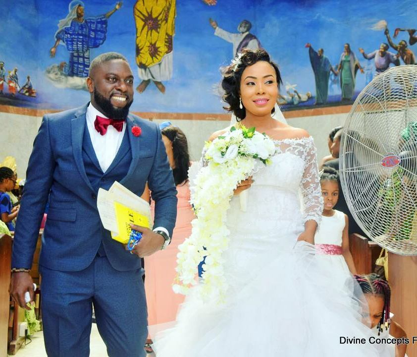 Photo of Bride whose wedding dress was given to Mercy Aigbe had a beautiful wedding (Photos)