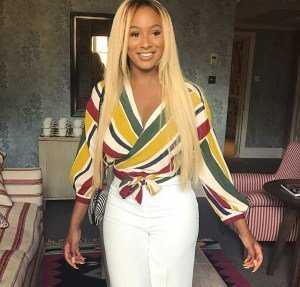 Photo of Hilarious reactions as Billionaire kid, DJ Cuppy complains of throat pain