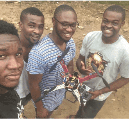 Photo of These four FUTO students designed a campus surveillance drone (Photos)