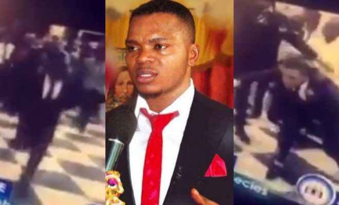 Wonders!! Ghanaian Prophet, Daniel Obinim, tries to fly to heaven during service (Video)
