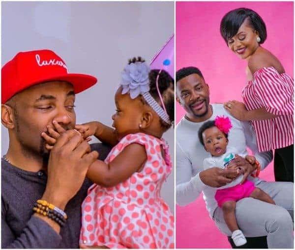 "Photo of Ebuka Obi-Uchendu's one year old daughter is already saying ""Up NEPA"""