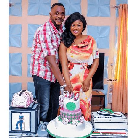 Photo of Actress Eniola Ajao celebrates birthday with mentor, Odunlade Adekola and others (photos)