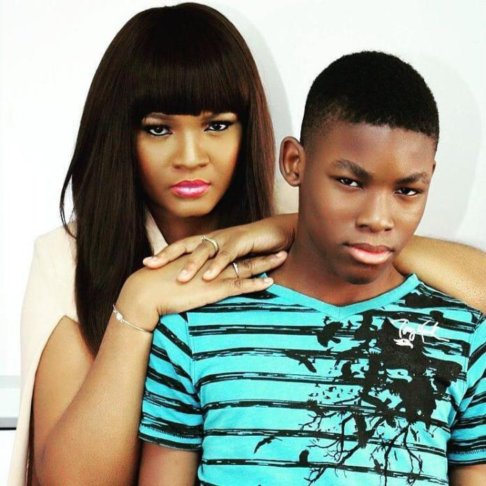 Photo of Omotola Jalade-Ekeinde's son reveals how she disciplines him and his siblings