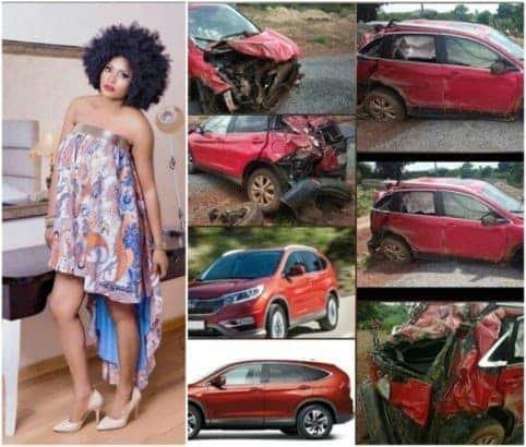 Photo of Nollywood actress Sonia Ogiri survives fatal auto crash