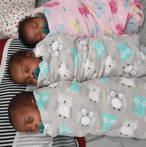 Photo of Nigerian make up artist delivers triplets after losing first baby (photos)