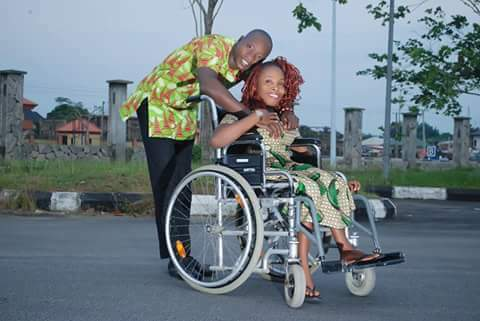 Photo of Lady who has been disabled since birth marries her boo in Akwa Ibom (Photos)