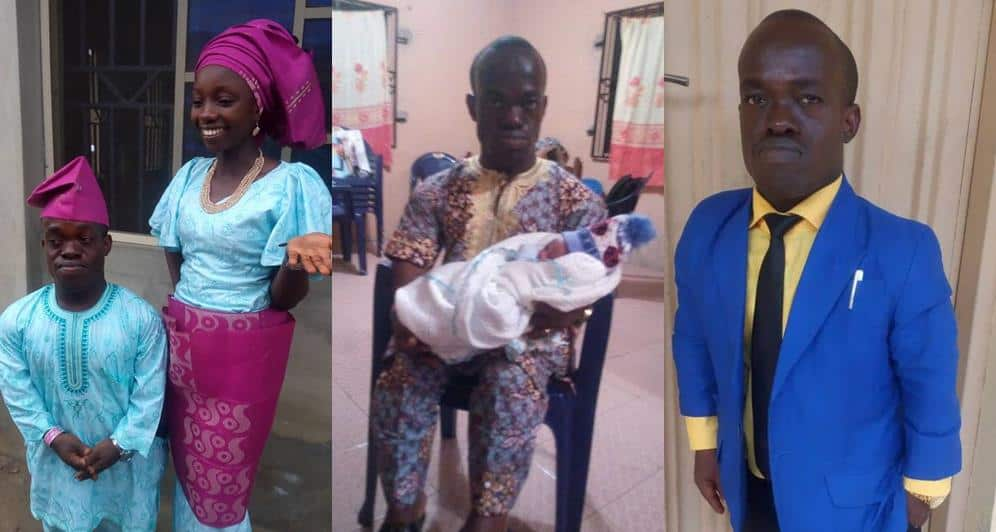 Photo of Viral RCCG Pastor with dwarfism and his wife welcome their first child