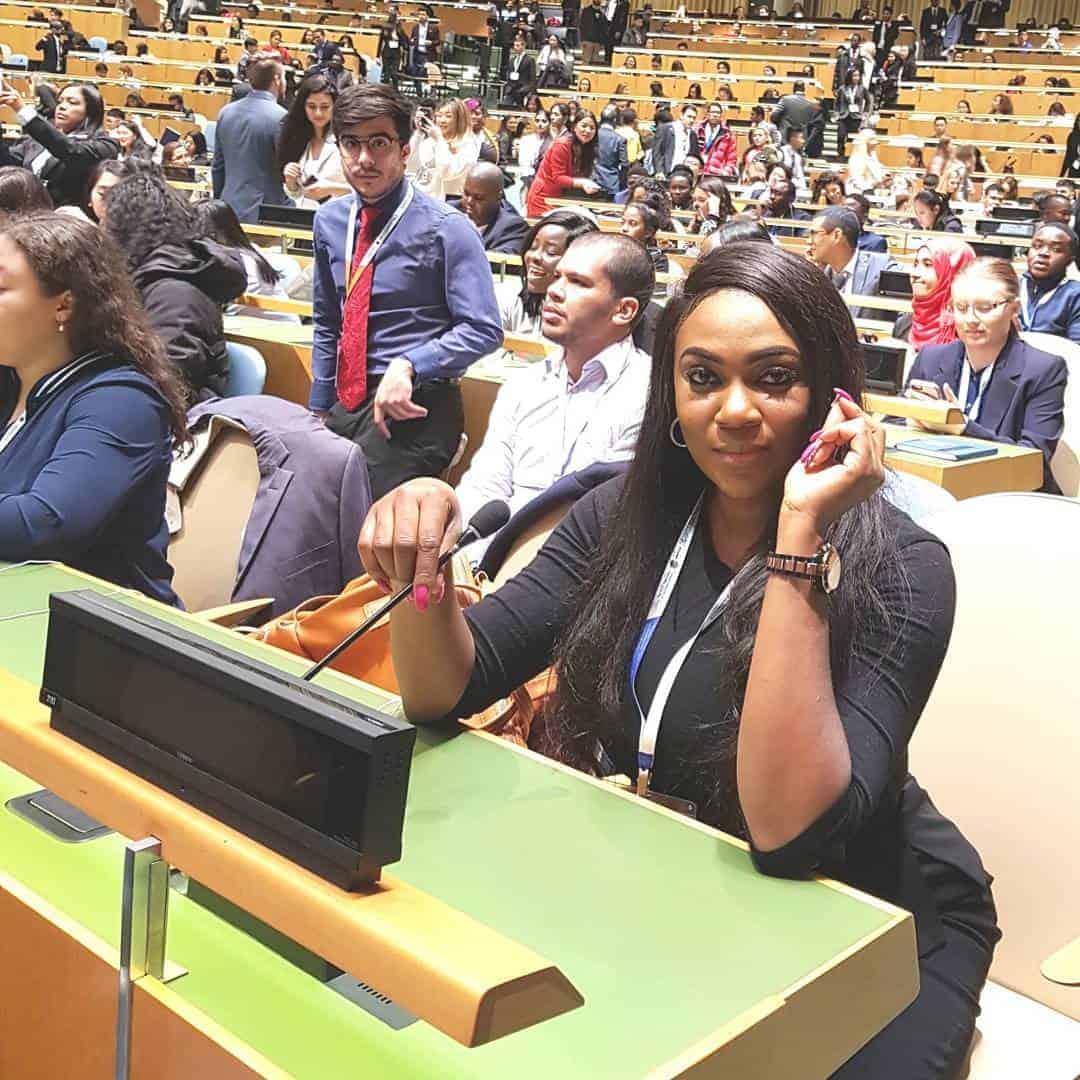 Photo of Photos of 2012 MBGN winner, Isabella Ayuk at UN youth assembly
